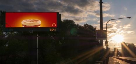 McDonald's crée un affichage qui se synchronise avec le lever du soleil | Actualité du marketing digital | Scoop.it