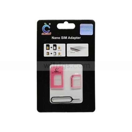 Nano SIM Card Adapter with Ejector Pin for Apple iPhone 5 Pink   Gadgets & Professional Repair Tools for smartphones   Scoop.it