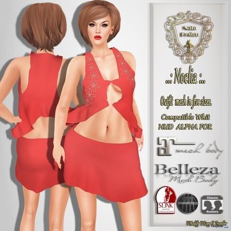 Noelia Pink Dress Group Gift by Nala Design | Teleport Hub - Second Life Freebies | Second Life Freebies | Scoop.it