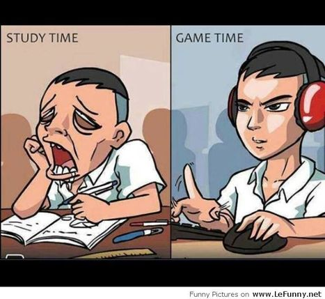 Study Time vs Game Time #funtime #game #study | Games & Technolgy | Scoop.it