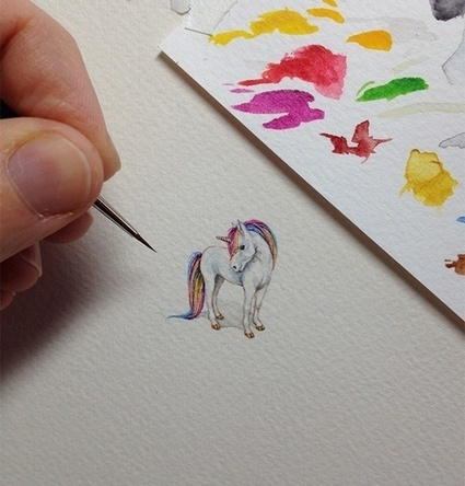 An artist created itty-bitty paintings every day for a year. Here are 15 of them. | enjoy yourself | Scoop.it