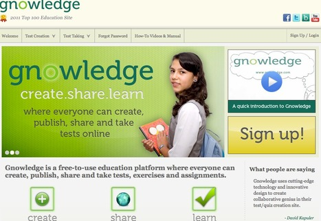 Gnowledge - Create, Share and Learn with a Global Repository of Tests | Public Relations & Social Media Insight | Scoop.it