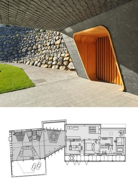 Modern Timber and Stone Two homes in one Design - Home Trend ... | Container Architecture | Scoop.it