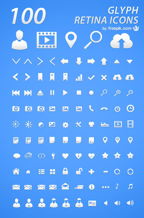 Freebie: Retina Glyph Icon Set (100 Icons in AI & PNG Formats) | Graphic Design | Scoop.it