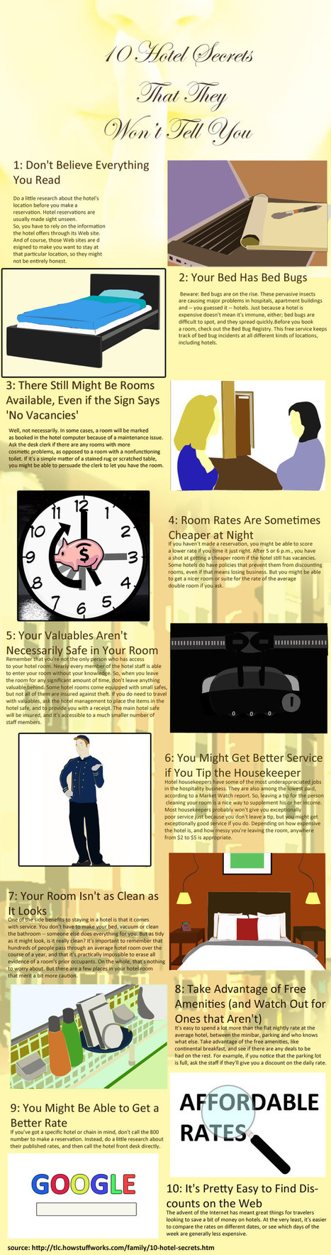 Infographics | Hotel Secrets Owners Won't Tell You | Scoop.it