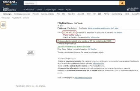 Amazon lists new PS4 model to be released on October for €400 - Your News Ticker | technologynews | Scoop.it