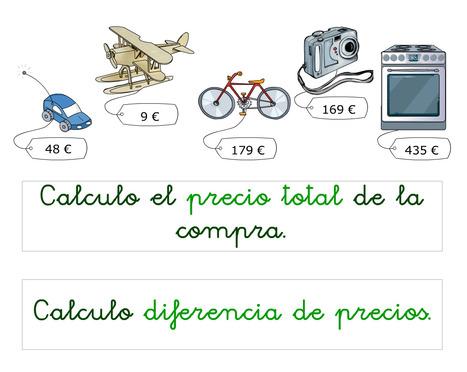 didactmaticprimaria: Precio total de la compra y diferencia de precios. Suma y resta contextualizadas a partir de 2º de Educación Primaria. | DidácTICa_MatemáTICas. Revista Digital | Scoop.it