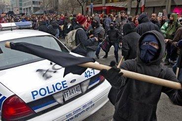 Canada, Québec: Des étudiants chassent les anarchistes d'une manifestation   Higher Education and academic research   Scoop.it