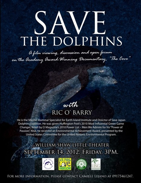 International dolphin activist, Ric O' Barry, speaks for the dolphins on September 14, 2012, 3PM at DLSU. | Makamundo (Earthly) | Scoop.it