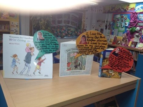 The best school libraries display books with front covers with mini reviews. Saw this in a great school @ectonbrookpri | SchoolLibrariesTeacherLibrarians | Scoop.it