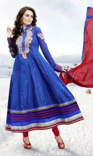 Gorgeous Blue Indian Churidar Kameez ORKJ1408 | Designer Salwar Kameez | Party Wear Salwar Kameez | Bollywood Churidar Salwar Kameez | Scoop.it