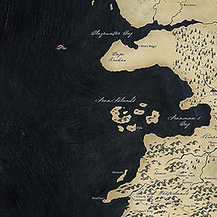Arya's Journey : Game of Thrones map | Geokult | Scoop.it