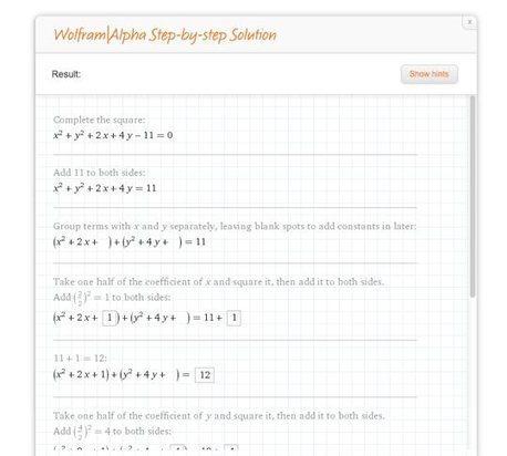 Wolfram ya nos permite solucionar ecuaciones polinómicas paso a paso | Circunferencia, Parábola | Scoop.it