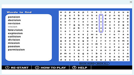 Wordsearch '-sion' game | Sites that help our spelling | Scoop.it