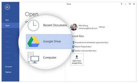 Introducing the Google Drive plug-in for Microsoft Office | Time to Learn | Scoop.it