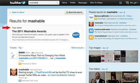 """Twitter Tests """"Top News"""" and """"Top People"""" Search Results   Technology and Gadgets   Scoop.it"""