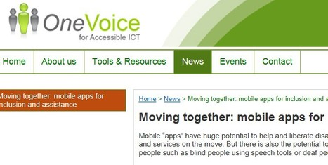 Mobile apps for inclusion and assistance | Inclusive teaching and learning | Scoop.it