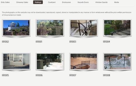 Decorative iron railings throughout Sacramento region | Custom Courtyard Gates Design with variant styles around Sacramento | Scoop.it