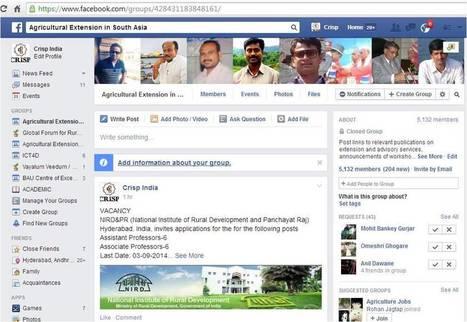 Social media: new generation tools for agricultural extension ? | Gestion des connaissances et TIC pour le développement | Scoop.it