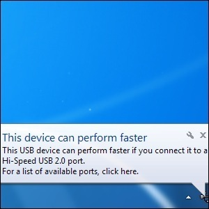"Resolving USB Speed Issues, ""This Device Can Perform Faster"" Error 