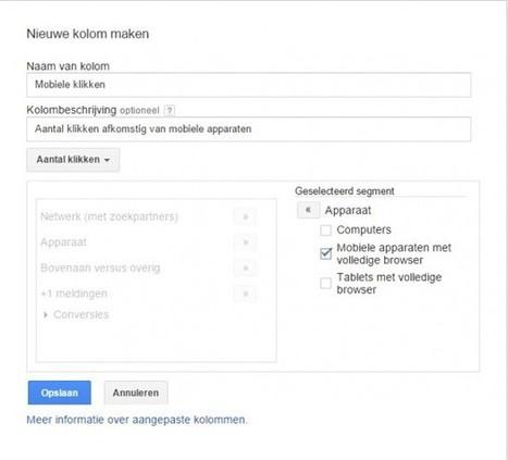 Google AdWords: eindelijk inzicht in je conversies met 'custom columns' | Zoekmachine Marketing | Scoop.it