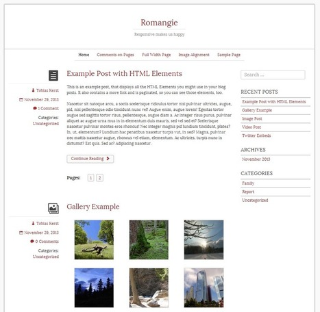 18 Free WordPress Themes Built With Bootstrap | Computerlove | Scoop.it