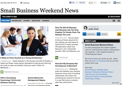 Sept 8 - Small Business Weekend News | Transformations in Business & Tourism | Scoop.it