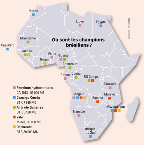 Ces brésiliens qui visent l'Afrique - Jeune Afrique | Intelligence économique, collective et compétitive, ici et ailleurs | Scoop.it