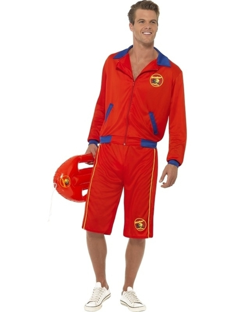 Mens Baywatch Lifeguard Jacket and Shorts Fancy Dress Costume | Fancy Dress Ideas | Scoop.it