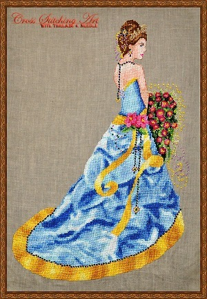 Cross Stitch Photo of the Week: CrossStitching Art's Milady of Summer | Les fils: créations en tout genre ! | Scoop.it