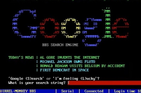 Here's what Google, Twitter, Instagram, and other sites would have looked like in the 1980s | ASCII Art | Scoop.it