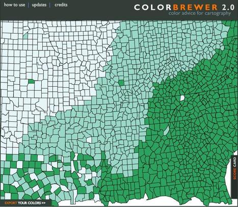 Colorbrewer: Color Advice for Maps | Map@Print | Scoop.it