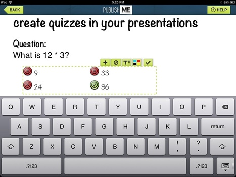 Quiz questions with PublishME | Powerpoint for the iPad. | Scoop.it