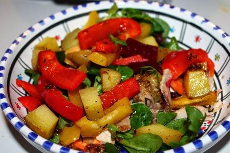 Recettes Faciles & Rapides: Salade arc en ciel au poulet   Recettes faciles   Scoop.it
