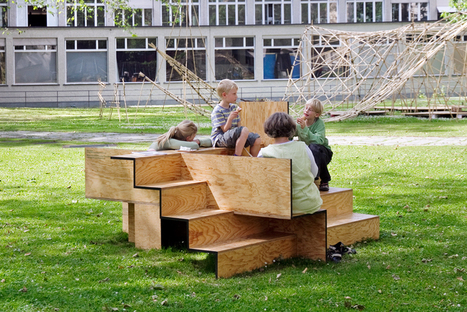 wooden stair public furniture by sebastian marbacher | Blau - Business Innovation & Enterprise Ecosystem Design | Scoop.it