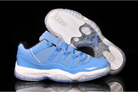 Jordan Xi Retro Low Nike Sneakrs University Blue/White Colorways | popular list | Scoop.it