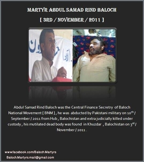 Baloch Martyrs Day!  | Help stop the Pakistani genocide of the #Baloch ! | Human Rights and the Will to be free | Scoop.it