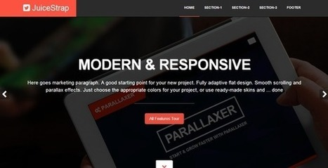 Website Templates ~ JuiceStrap flat parallax Bootstrap | trtrrdrd | Scoop.it