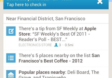 Foursquare for Android review: Foursquare makes check-ins a snap - CNET | Easy Ways To Get Your Own List | Scoop.it