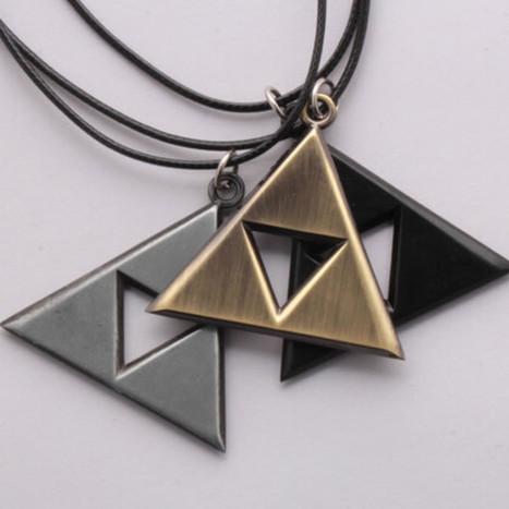 Legend Of Zelda Triforce Necklace - Three Colors   Online Shopping   Scoop.it