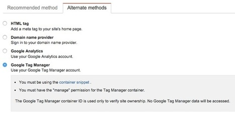 How to Set-Up Google Analytics and Google Search Console for a New Site Using Google Tag Manager? - Search Brain   Google Tag Manager   Scoop.it