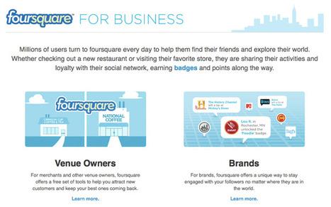Découvrez Foursquare for Business en 6 points et créez votre propre Foursquare Page   Kriisiis.fr - Outils, Conseils et Actualité Social Media   Foursquare : un outil marketing   Scoop.it