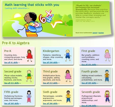 IXL-Maths for the left and right brain | UpTo12-Learning | Scoop.it