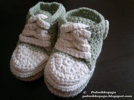 Palmikkopaja: Vauvan virkatut converse-tossut   Käsitöiden maailma   Scoop.it