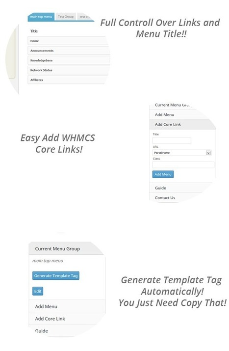WHMCS Menu Manger (PHP Scripts) | PHP Scripts Download | Scoop.it