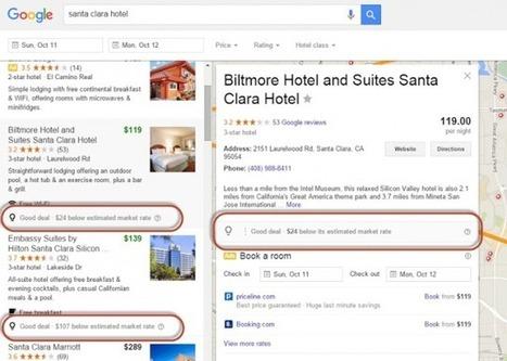 Google Hotel Finder Results Now Show Relative Deal Pricing | ALBERTO CORRERA - QUADRI E DIRIGENTI TURISMO IN ITALIA | Scoop.it