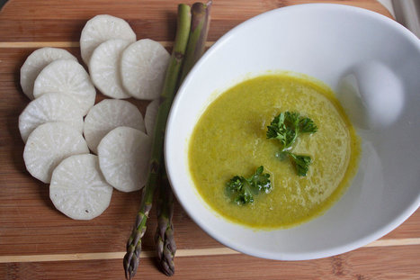 Daikon Radish & Asparagus Soup | Healthy Recipes In Cooking Blogs | Scoop.it