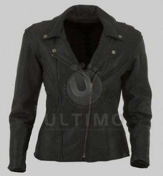 Black Stylish Women Leather Jacket   You like leather jackets since nobody ignored it   Scoop.it