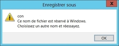 Con, un nom de fichier réservé à Windows | Informatique | Scoop.it