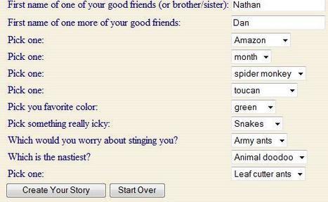 Rainforest Story Creator | rainforest kids | Scoop.it